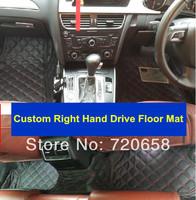 New Luxury  Car Floor mats 5pcs/set Allrounded XPE Environmental custom Right Hand Drive RHD Wholesale GLK ML Q5 Q7 A6 A4 A3 A1