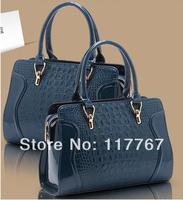 Free Shipping New 2014 Fashion Design Brand Crocodile Women Handbag Leather Shoulder Bags Women Messenger Bags Totes Bag 840001