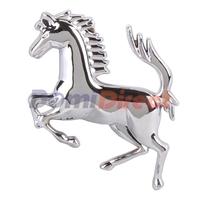 Car Decor 3D Decal Emblem Silvery Horse car sticker Metal Auto Sticker