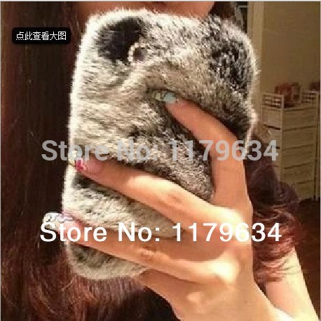 Real rex rabbit fur case for iphone 5s 5c 5 4s 4 5g 4g luxuxy new covers mobile phone bags & cases of Superarrow factory outlet(China (Mainland))