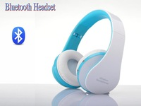 White & Blue Colour New Wireless Stereo Bluetooth Headphone 3.0 for Mobile Cell Phone Laptop PC Tablet Support Wired Connect