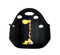 Giraffe Kids Insulated Lunch Tote Bag Cooler Box Neoprene Lunchbox Baby Bag Handbag Case