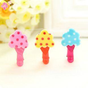 Children's Lovely Ice Cream,Rabbit,Flower Acrylic Hair Clip(China (Mainland))