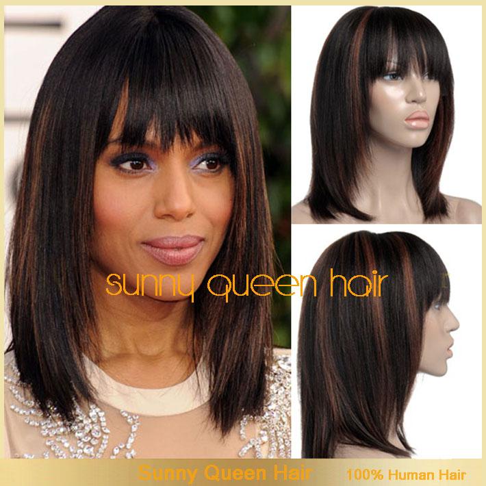 Auburn Highlights In Black Hair | fashionplaceface.com