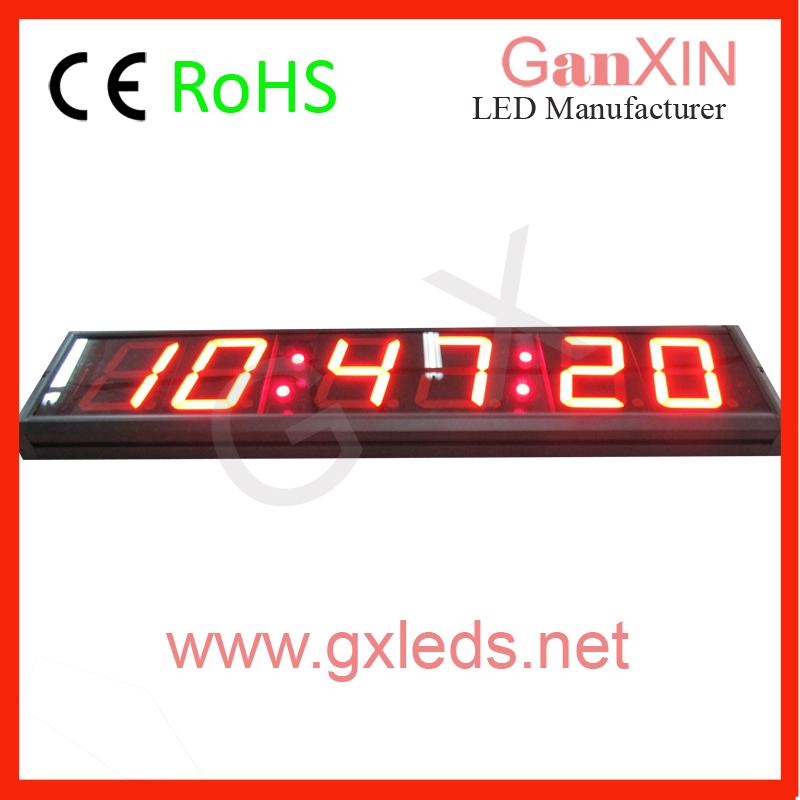 High brightness red indoor led flex display screen led wall clock digtial wall clock(China (Mainland))