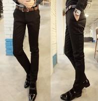 Free Shipping New 2013 Casual Men Trousers Pants for Autumn/Winter, 100% Cotton, Brand, Black, Green, Yellow, Khaki, Big Size