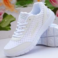2014 new  fashion men's Women's  white sports lovers  Women ultra-light breathable running  casual  sports  men gauze  shoes