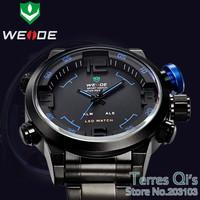 2014 Weide New Oversize LED Digital-Analog Quartz Alarm Sports Mult-functional Wrist Watch Free Ship