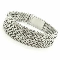 Bracelets Men's Accessories, Rock Punk Biker Stainless Steel Simple Designer Fashion Silver Bracelet & Bangle Top Quality