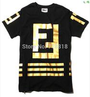 Golen Cotton Fashion Unisex Men Women Homme Femme FF Largefeld 17 Side Zippers T-Shirt tee Male Female Hiphop Hip hop Top Tees +