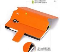 Free shipping Hight quality Xiaomi red rice leather case xiaomi hong mi flip letaher case-Flip leather case xiaomi red rice