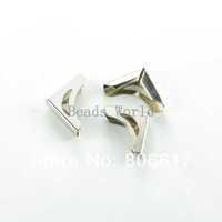 Free Shipping 100 Pcs Silver Tone Punch Metal Book Scrapbooking Albums Menus Folders Corner Protectors 14x10mm(W03431 X 1)