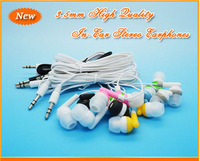100pcs Hot Sell Newest Fashion High Quality 3.5mm In-Ear Earphone Headphone For MP3 MP4