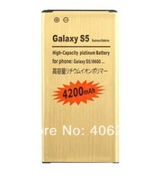 New 100pcs/lot 4200mah GOLD Battery For Samsung Galaxy GS S5 I9600 G900 G900K G900F G900I G900A G900P G900V G900T G900R4