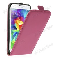 hk free shipping 10pc/tvc-mall Matte Leather Magnetic Vertical Flip Case for Samsung Galaxy S5 GS 5 G900