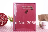 Hot Sale Hello Kity Stand Smart Cover Case For Samsung Galaxy Tab3 P5200  Stand Skin Leather Free Shipping