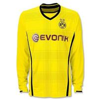 Borussia Dortmund 13/14 top Thai quality HOME YELLOW REUS Gundogan LEWANDOWSKI HUMMELS SAHIN long sleeve Soccer Jersey BVB uefa