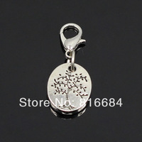Free Shipping !! (5pcs/lot) 2015 New Designs SMALL SILVER TREE OF LIFE Floating Dangles