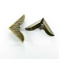 Free Shipping 50 Pcs Bronze Tone Metal Carving Book Scrapbooking Albums Menus Folders Corner Protectors 42x30mm(W03451 X 1)