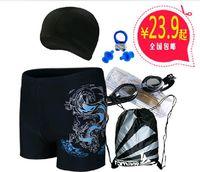 Free Shipping Hot Sale Men's Swimming Trunks Swimwear Fashion Flame Print Swim Shorts Men Big size Beach Wear