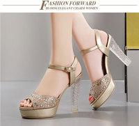 2014 Summer New Corium Waterproof Taiwan Fish head shoes  women sandals DunHu6093