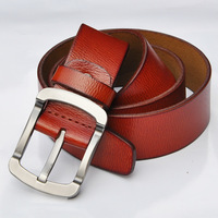 Men's leather belt authentic fashion leisure paired needle quality assurance high-grade men's belt