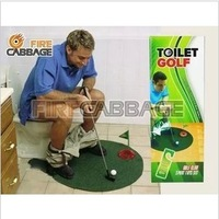 free shipping Toilet potty putter golf ball mini toy