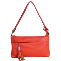 Genuine leather women's day clutch one shoulder long design bag women's genuine leather free shipping