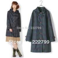 fashion trench coat Woman raincoat Korea light lovely poncho large lattice mode waterproof jackets free shipping