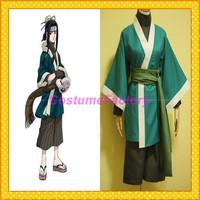 Free Shipping Custom Made Naruto Cosplay Haku Kimono Anime Party Costume,1.5kg/pc