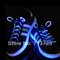Blue LED Flashing Shoelace LED LIGHT UP SHOELACES LED Shoelaces Shoe Laces DISCO Party Skating LED Shoelace with Flashing Light