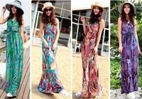 2013 004 bohemia halter-neck full dress beach dress one-piece dress