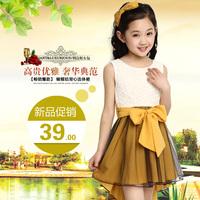 girl dress princess brand new 2014 summer kid girls dress chiffon children Princess dress dancing party clothing Top quality