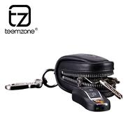 Teemzone cowhide keychain car key wallet male genuine leather key wallet purse
