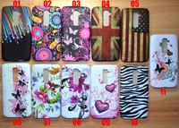 10Pcs / lot Fly Butterfly Flower Jellyfish Zebra UK US flag Love Star Soft Skin Cover Case for LG G2 D802 Free shipping