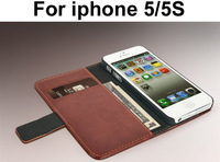 Vintage PU Leather Wallet Stand Case for iPhone 5 Phone Cases Bag Cover with 2 Card Holder For iphone 5S,free screen protector