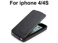 Vintage Flip PU Leather case for iPhone 4 4S Phone cases Bag Cover Luxury Retro with Fashion Logo Black Brown Pink