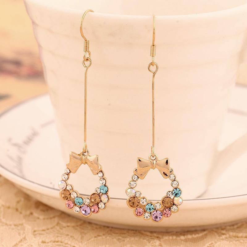 Hot Diamond butterfly earrings non pierced ear screw(China (Mainland))