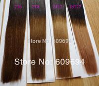STOCK 18 20inch 2 tone OMBRE CLIP IN Indian Remy human hair extensions 1bT4 1BT6 1BT8 1BT10 1BT12 1BT14 1BT18