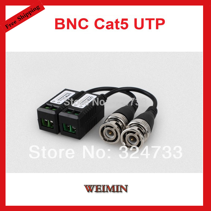 1CH Mini CCTV Security Camera DVR Passive Video Balun BNC Cat5 UTP Twisted Pair(China (Mainland))