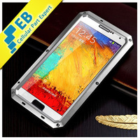 2014 Fashion Case Aluminum + Gorilla Glass case for Samsung Galaxy Note 3 n9000 cover  Waterproof Dirtproof Shockproof case