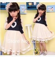 Free shipping, wholesale children's clothing children dress Spring 2014