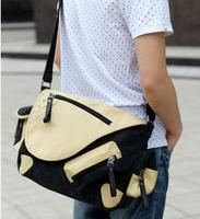 Men  Handbag casual fashion canvas shoulder Messenger bag schoo ltravel bag