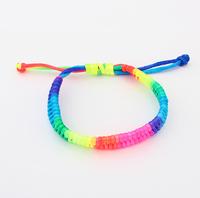 2014 New Design Fashion Korean version of Rainbow Candy Woven Bracelet wholesale&Retail Statement Bangle&Bracelets For Women