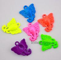 1.6cm*1.5cm neon color metal elephant charms findings connectors pendant