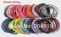 "HJ0032 Elastic Hair band baby 100pcs assort colors 5cm&2"" Dia elastic Twist Children Girls Hair accessory"