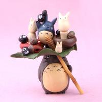 Japanese Cartoon Ha yao Animation Figure My Neighbor Totoro figure toys, children dolls,15pcs/set toys for kids with box packing