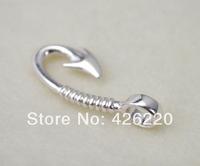 free shipping DIY bracelet Jewelry accessory 10pcs a lot silver plated fish hook pendant(B60005)