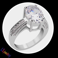 Super Nice White Gold plated Princess Cut AAA Cubic Zirconia Wedding Rings for woman