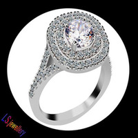 White Gold plated 1.25ct Princess Cut Cubic Zirconia Wedding Rings for woman